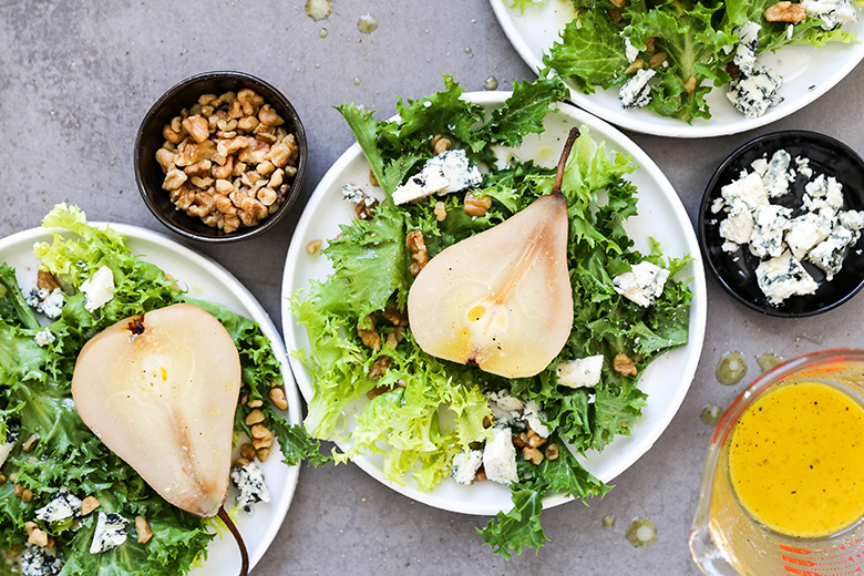 POACHED PEAR SALAD