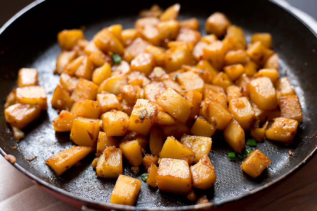 HOT AND SPICY SWEET POTATOES