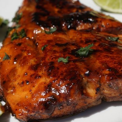 sticky jerk salmon recipe