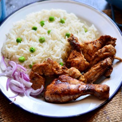 Jerk Chicken with Rice and Peas