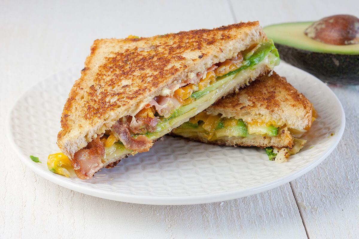 GRILLED CHEESE AVOCADO SANDWICH