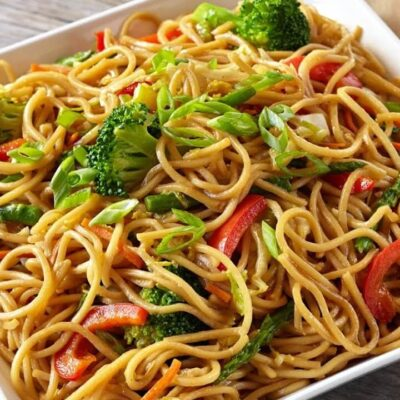 Green Chowmein Recipe