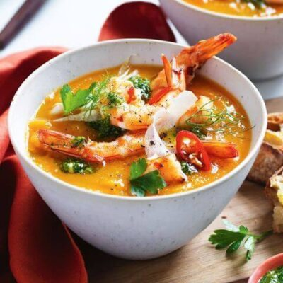 Prawn chilli and lime soup